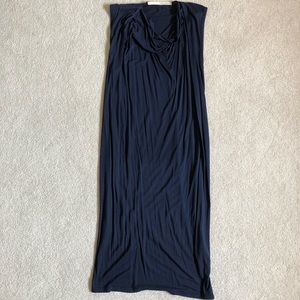 Isabel Benenato Navy Sleeveless Dress